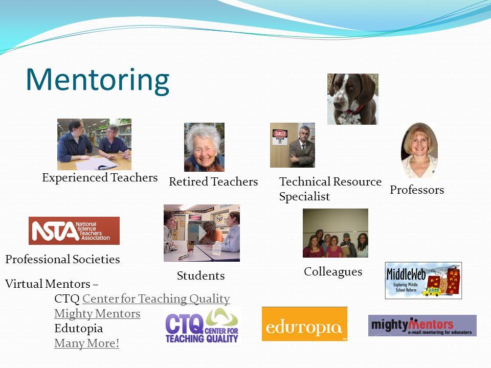 Mentoring Experienced Teachers Retired Teachers Technical Resource