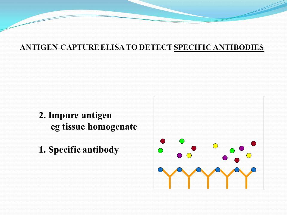 2. Impure antigen eg tissue homogenate 1. Specific antibody