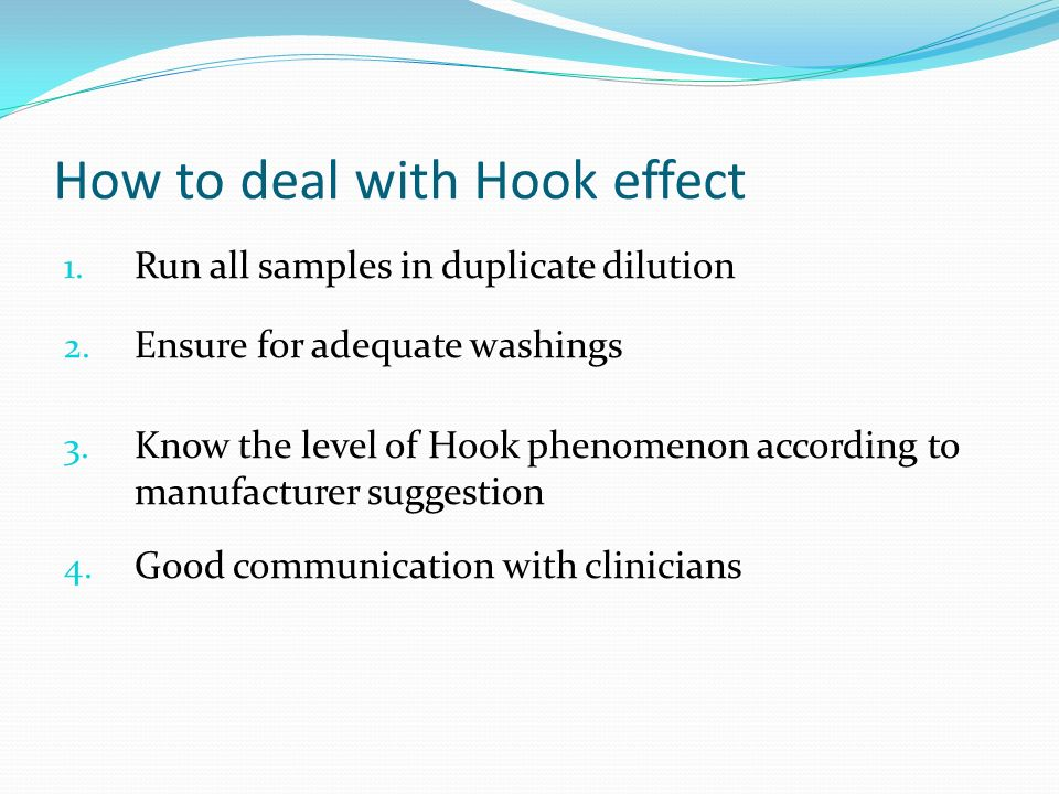How to deal with Hook effect