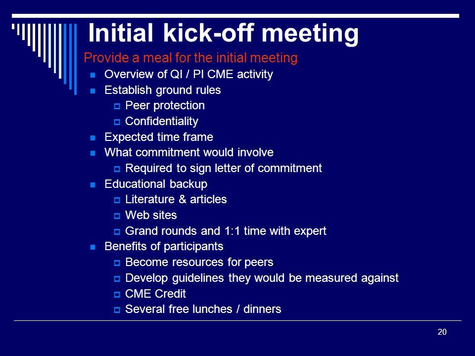 Initial kick-off meeting