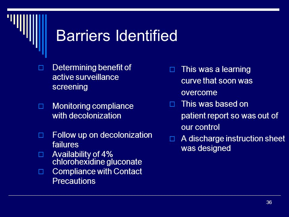Barriers Identified Determining benefit of active surveillance