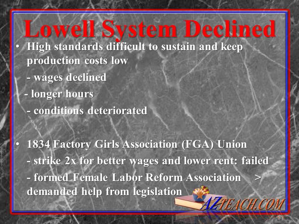 Lowell System Declined