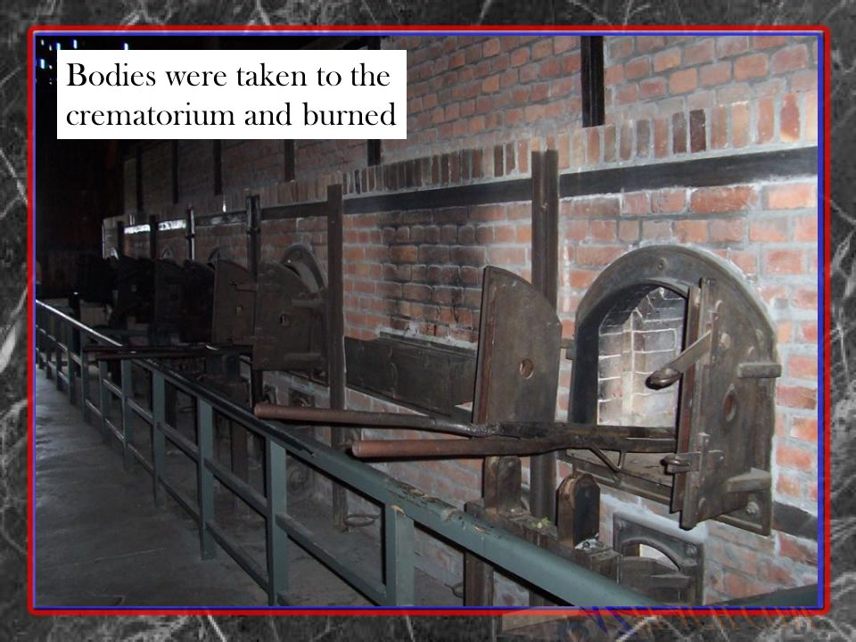 Bodies were taken to the crematorium and burned