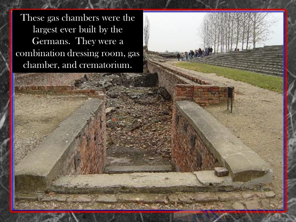 These gas chambers were the largest ever built by the Germans