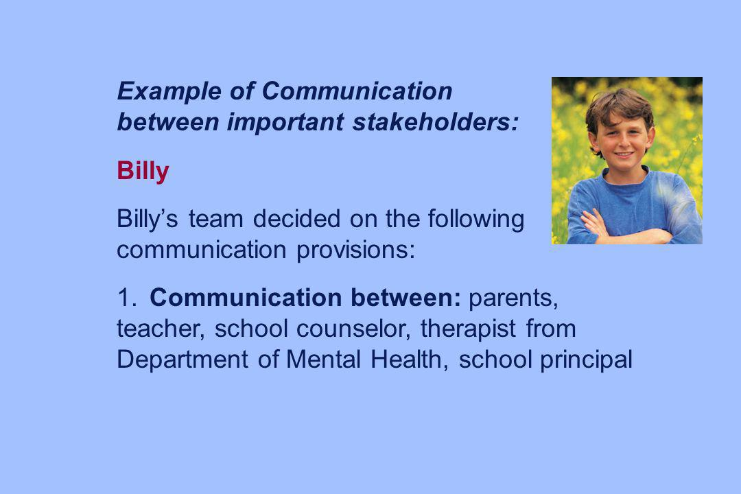 Example of Communication