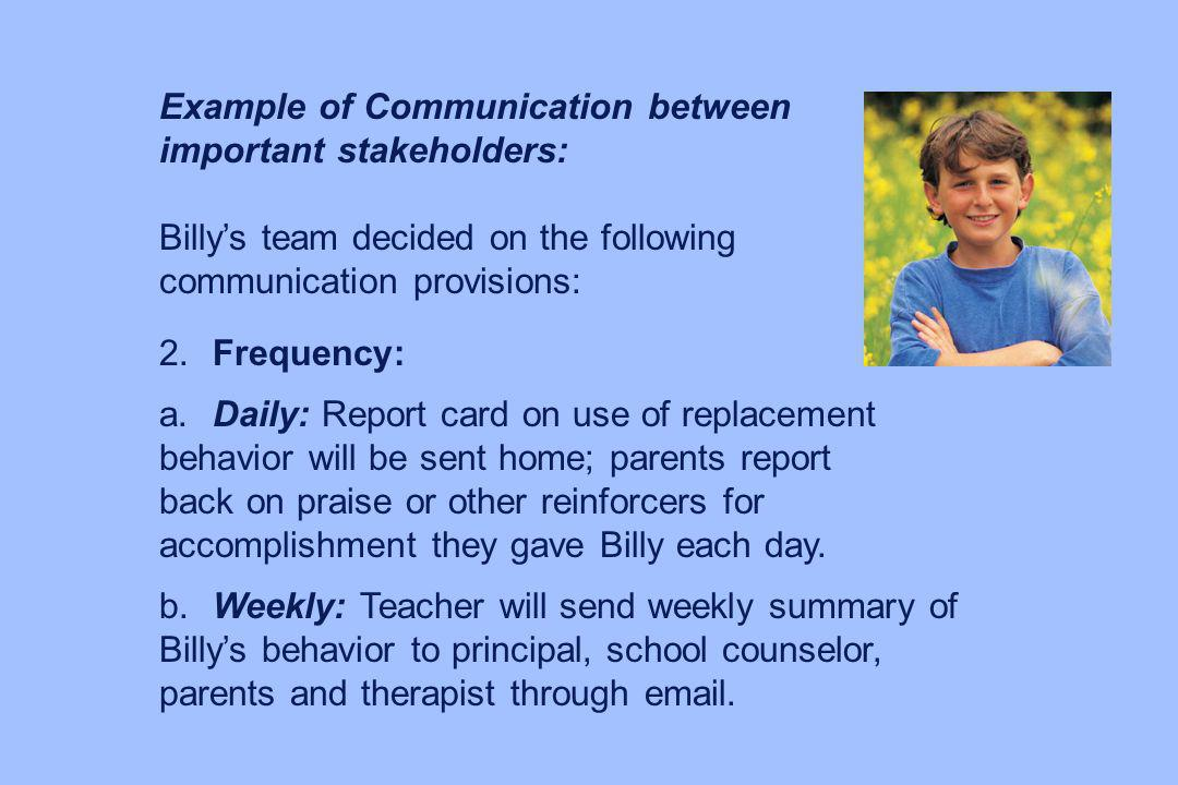Example of Communication between