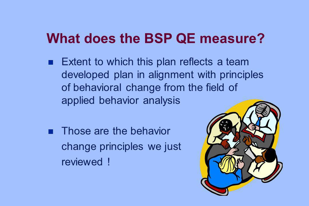 What does the BSP QE measure