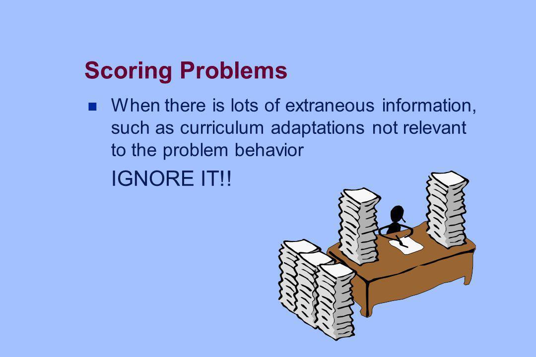 Scoring Problems IGNORE IT!!
