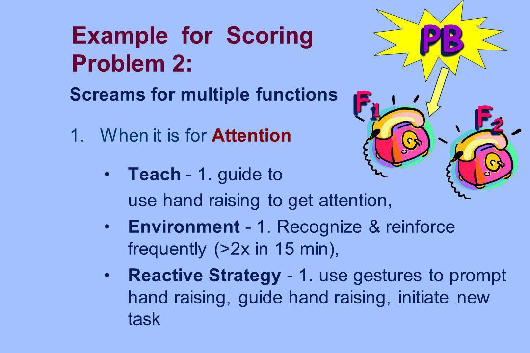 Example for Scoring Problem 2: