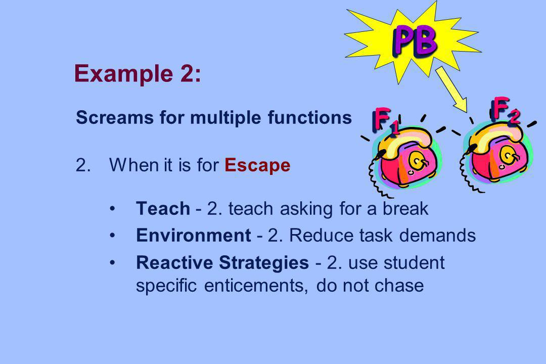 PB F2 F1 Example 2: Screams for multiple functions