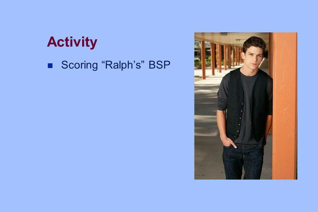 Activity Scoring Ralph's BSP