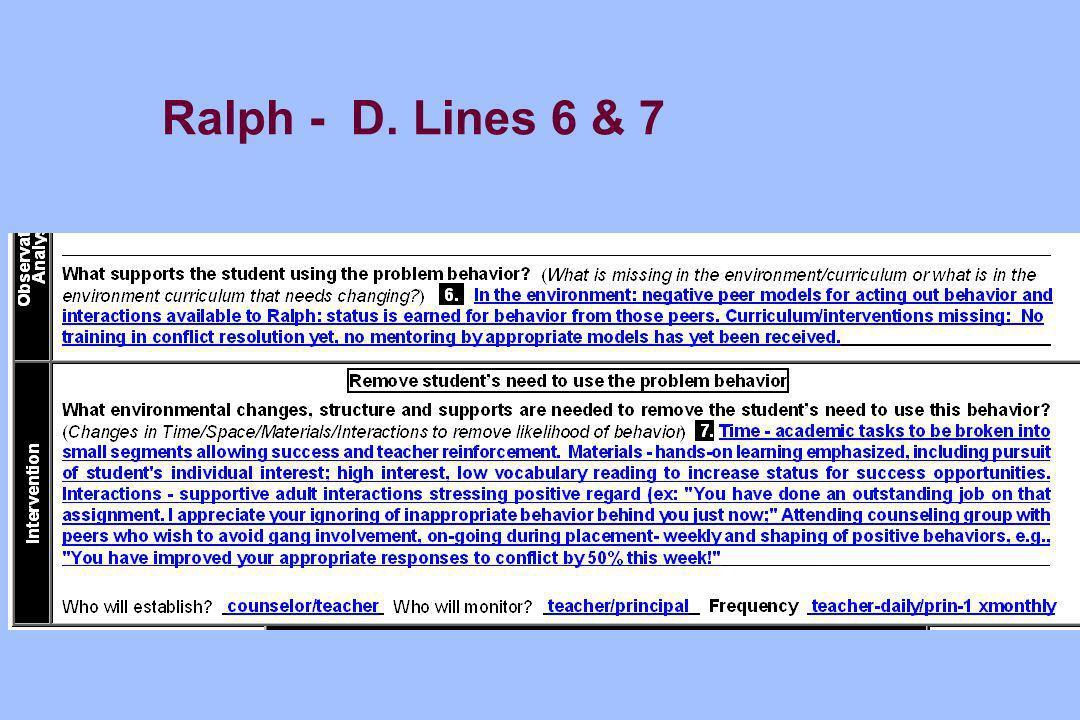 Ralph - D. Lines 6 & 7
