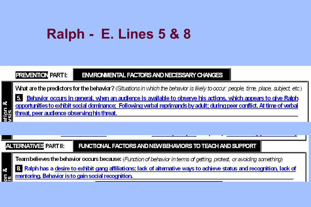 Ralph - E. Lines 5 & 8
