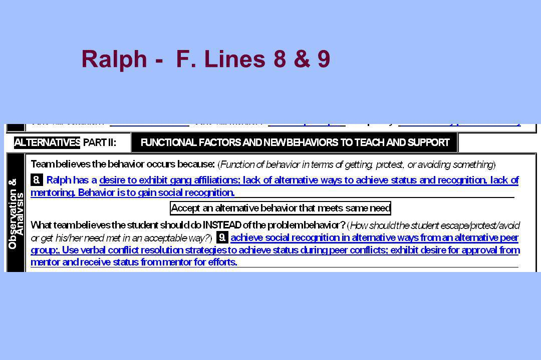 Ralph - F. Lines 8 & 9