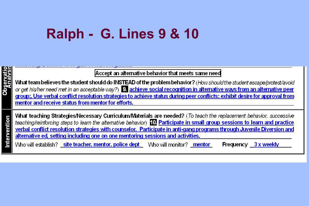 Ralph - G. Lines 9 & 10