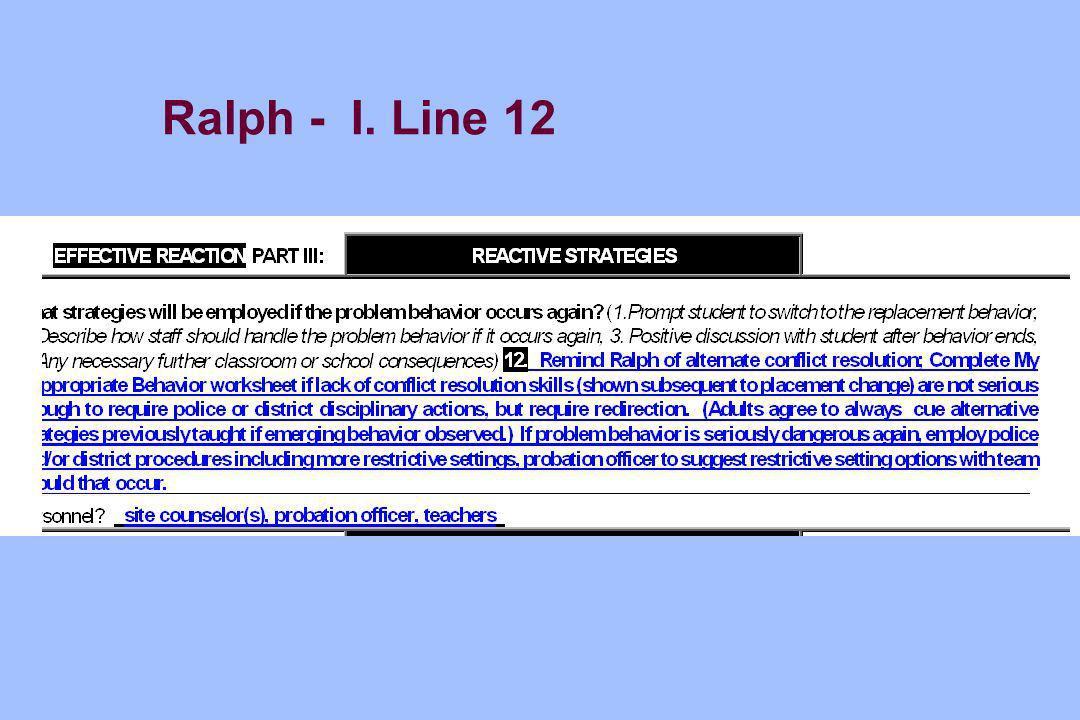 Ralph - I. Line 12