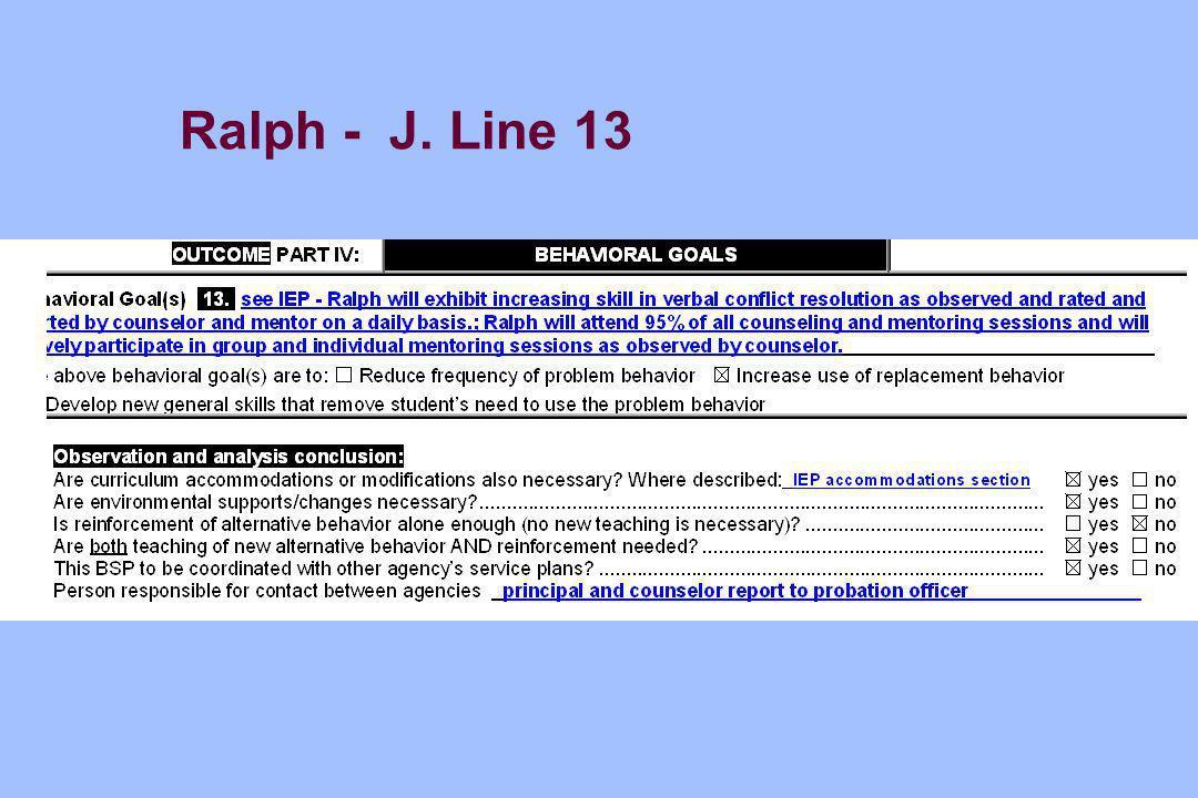Ralph - J. Line 13