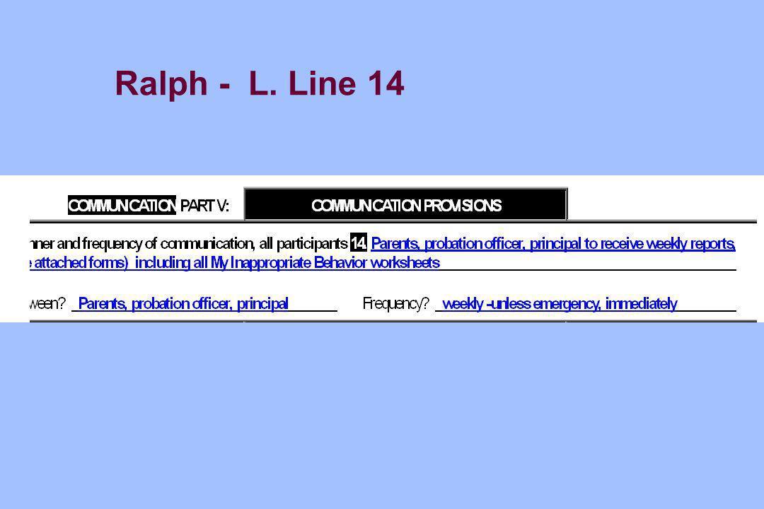Ralph - L. Line 14