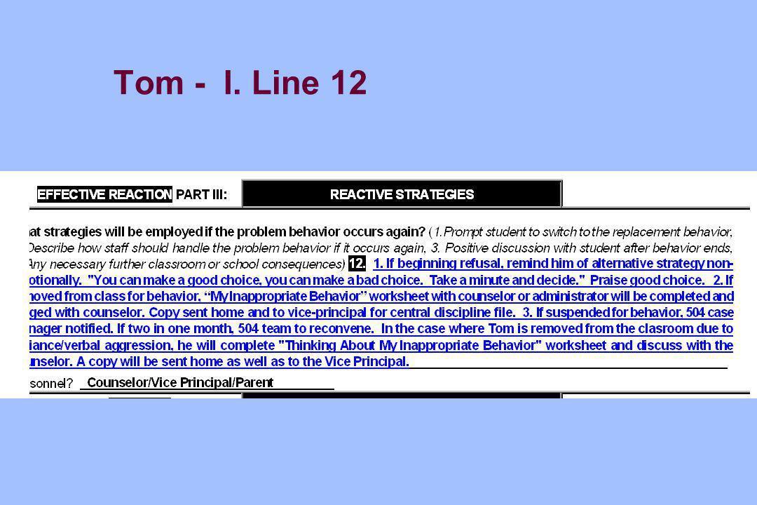 Tom - I. Line 12