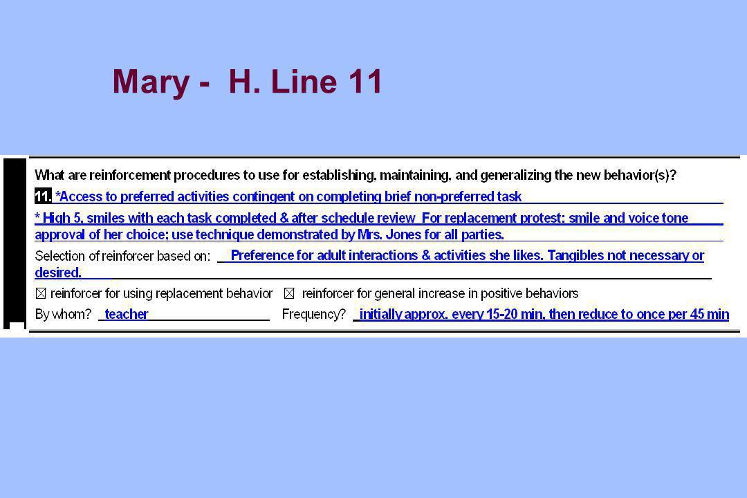Mary - H. Line 11
