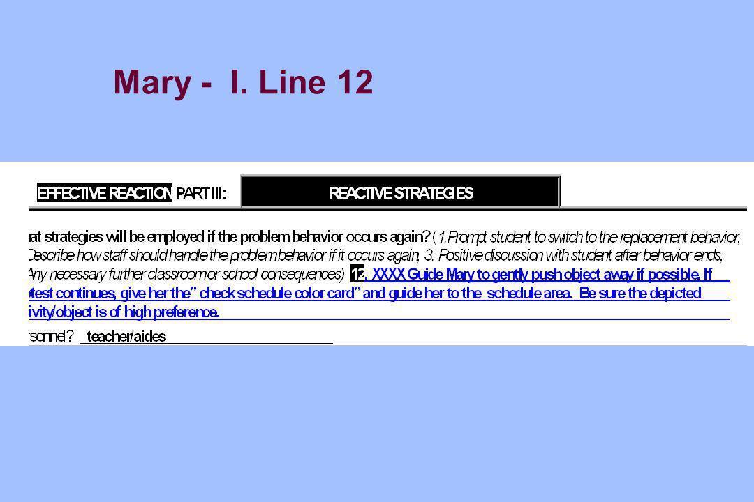 Mary - I. Line 12