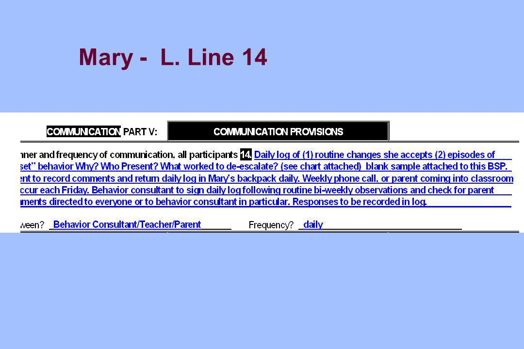 Mary - L. Line 14