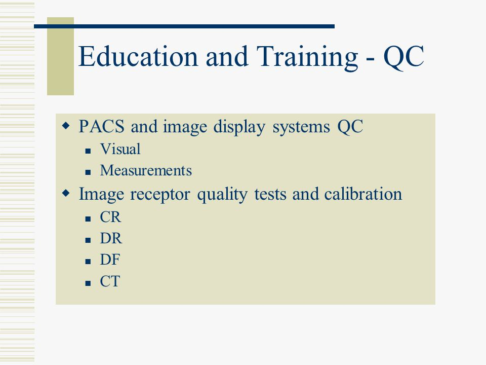 Education and Training - QC