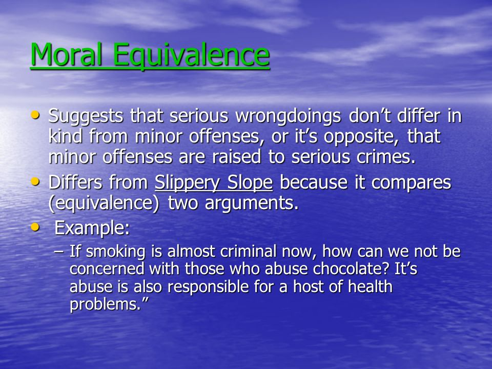 Moral Equivalence