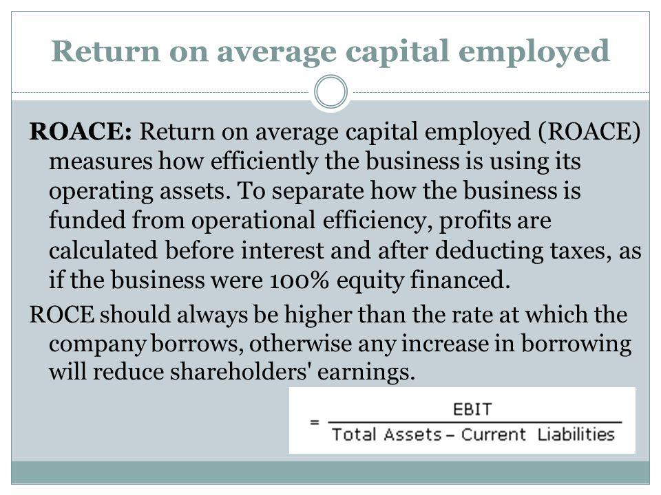 Return on average capital employed