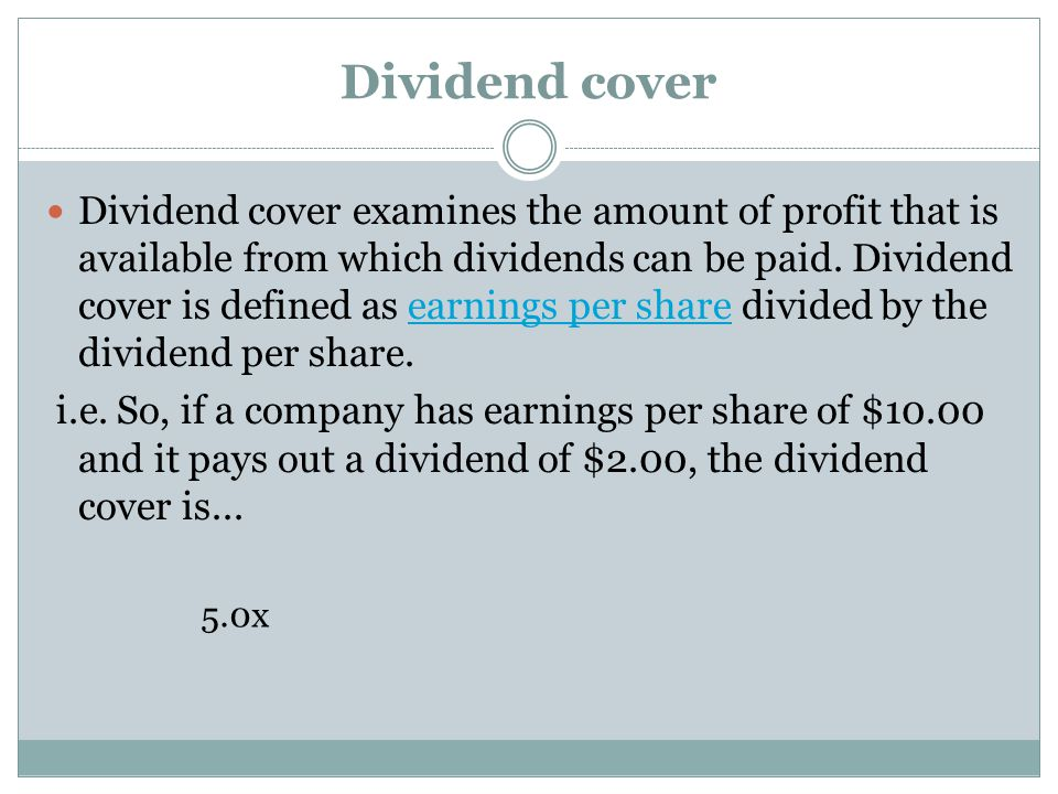 Dividend cover