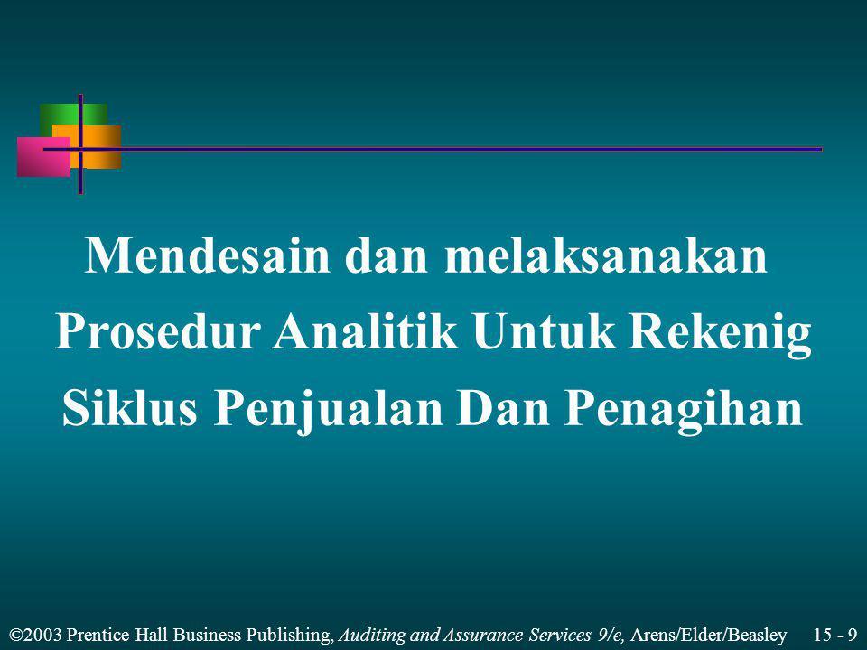 Mendesain dan melaksanakan Prosedur Analitik Untuk Rekenig