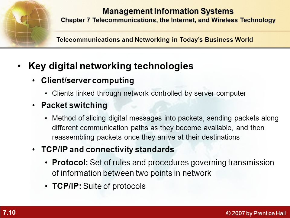 Key digital networking technologies