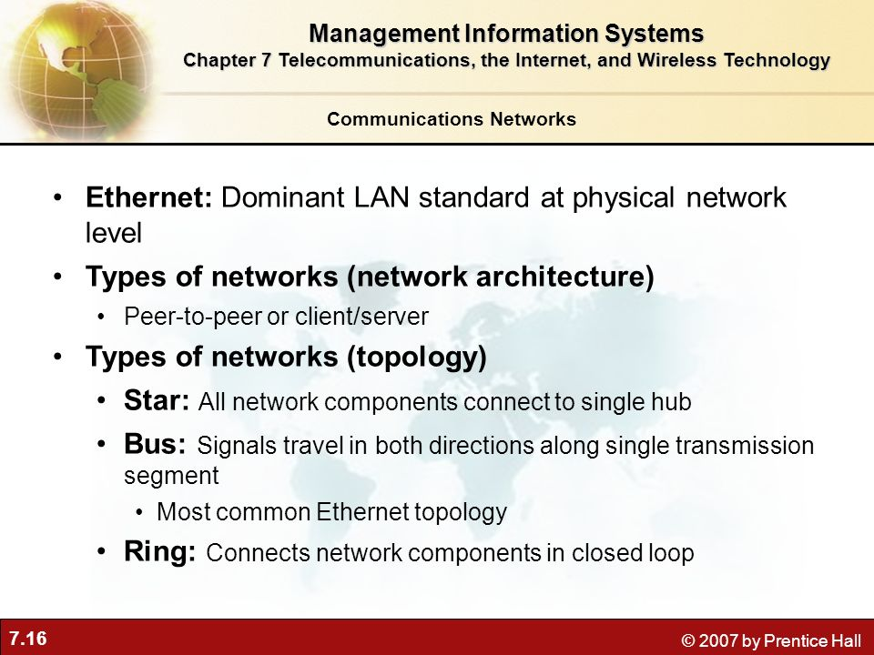 Ethernet: Dominant LAN standard at physical network level