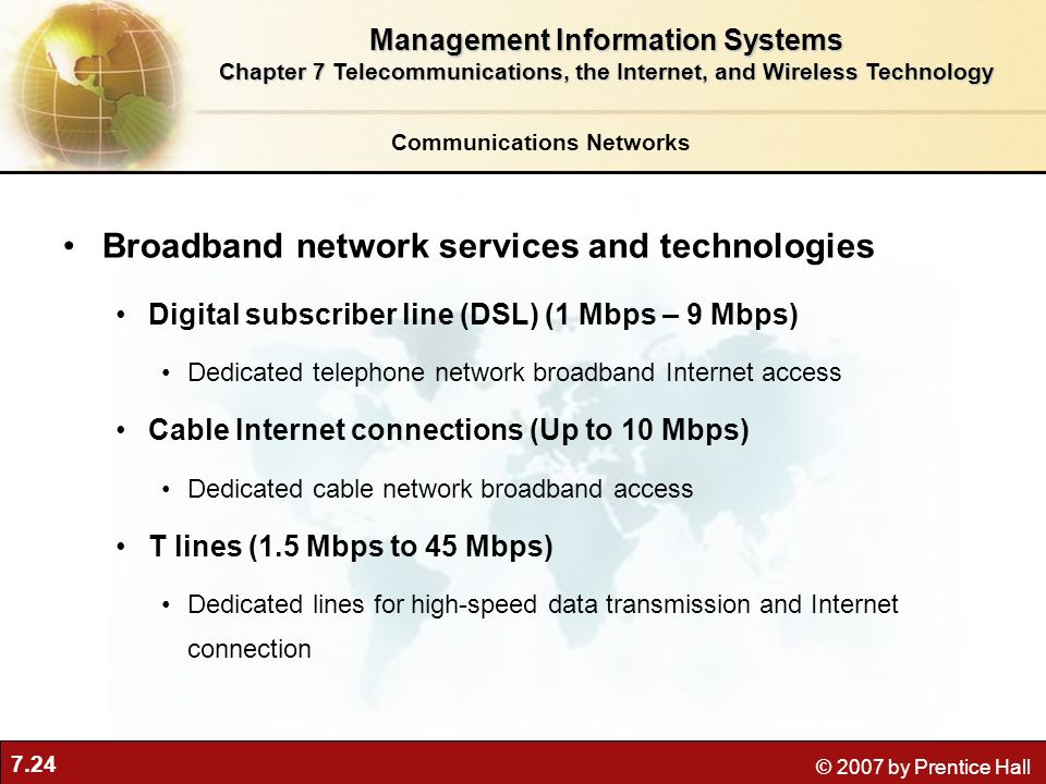 Broadband network services and technologies