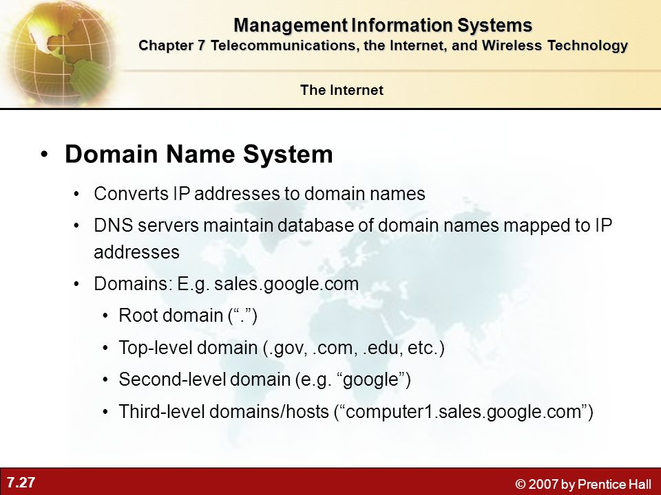 Domain Name System Management Information Systems