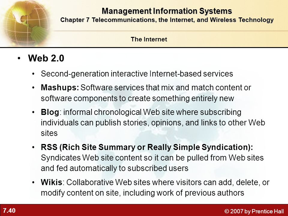 Web 2.0 Management Information Systems