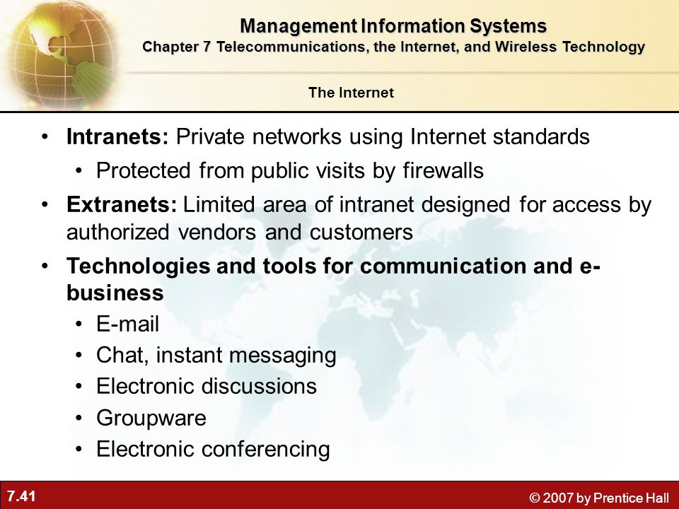 Intranets: Private networks using Internet standards