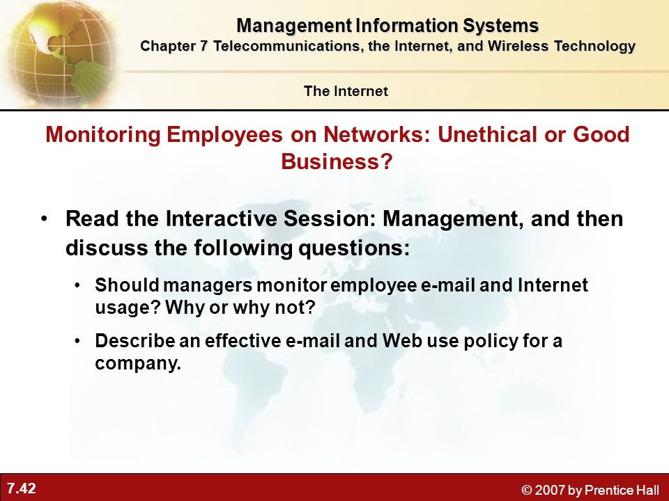 Monitoring Employees on Networks: Unethical or Good Business