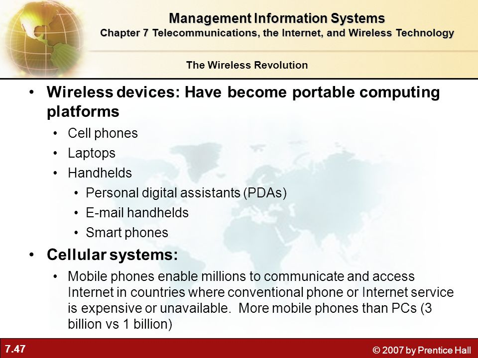 Wireless devices: Have become portable computing platforms