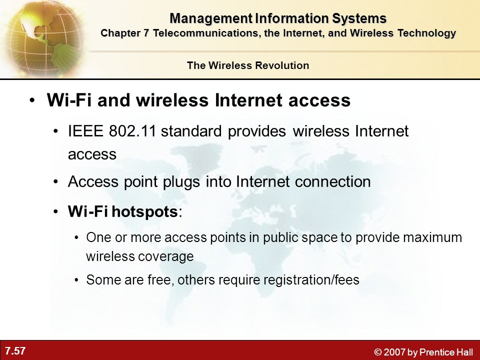 Wi-Fi and wireless Internet access