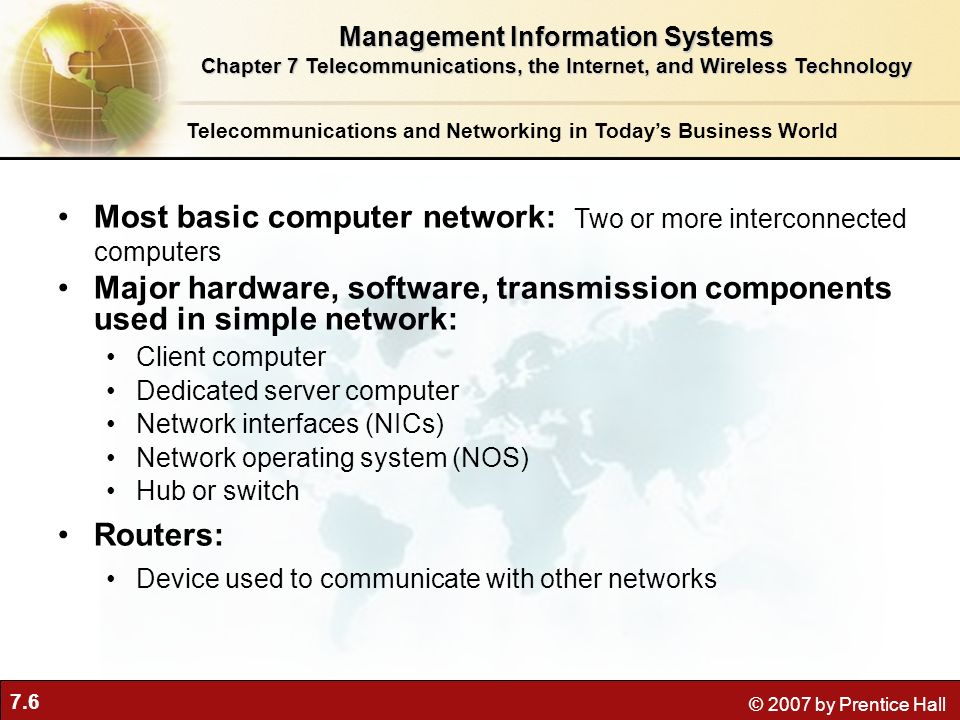 Most basic computer network: Two or more interconnected computers