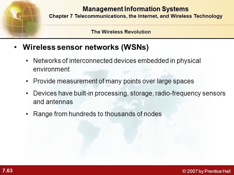 Wireless sensor networks (WSNs)