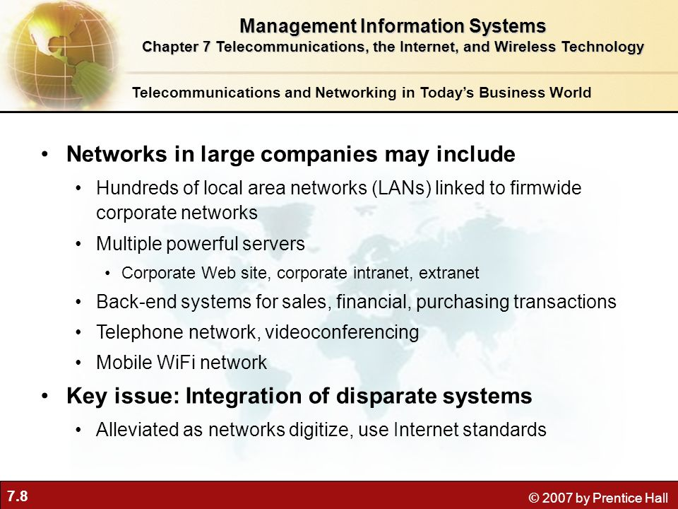 Networks in large companies may include
