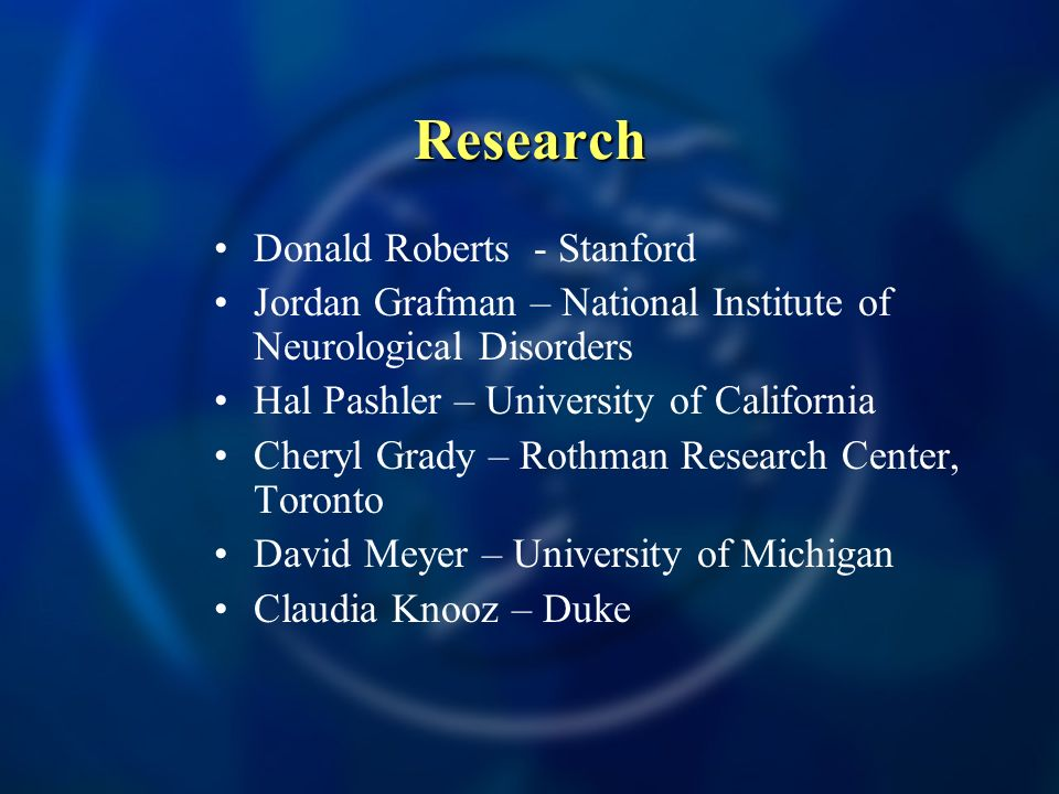 Research Donald Roberts - Stanford