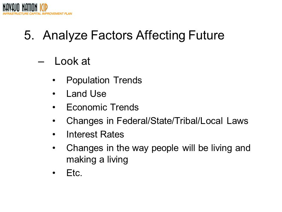 5. Analyze Factors Affecting Future