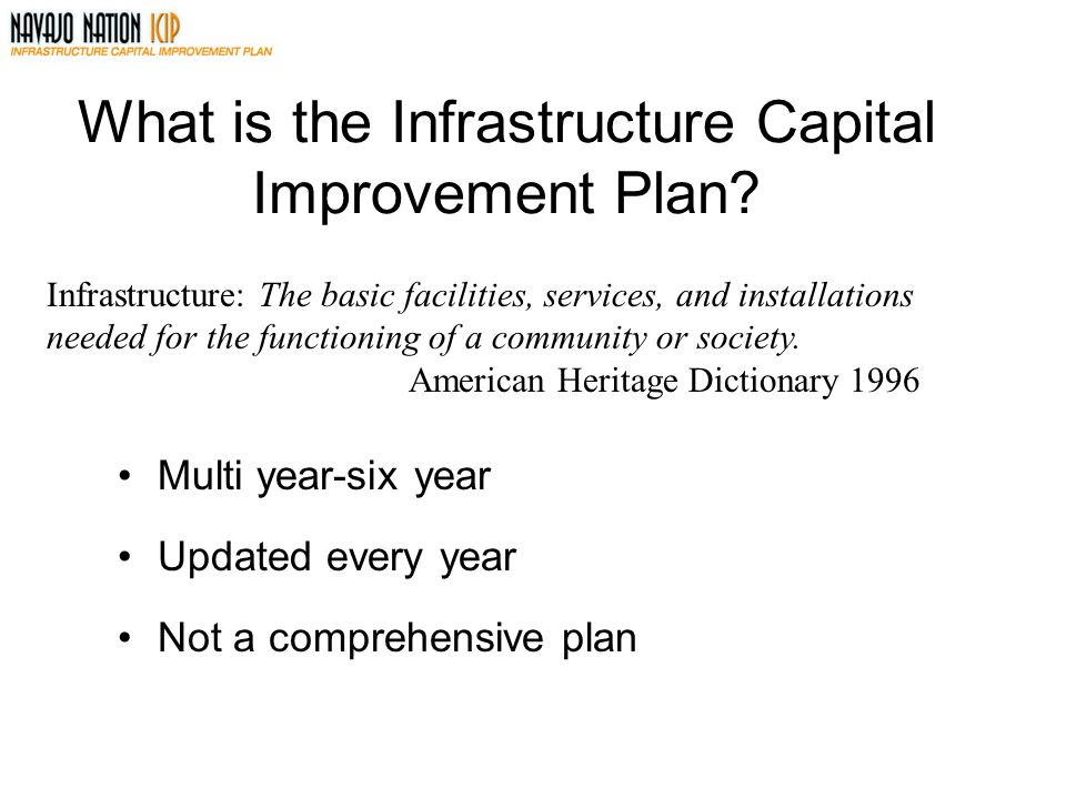 What is the Infrastructure Capital Improvement Plan