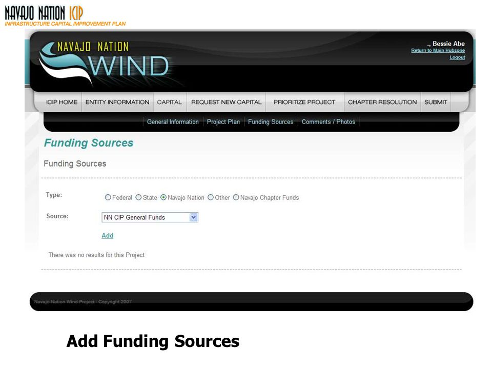 Add Funding Sources