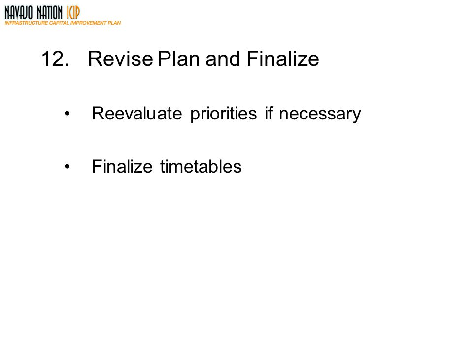 Revise Plan and Finalize