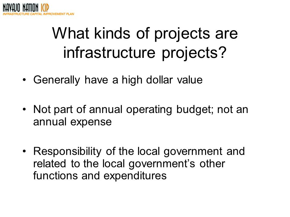 What kinds of projects are infrastructure projects