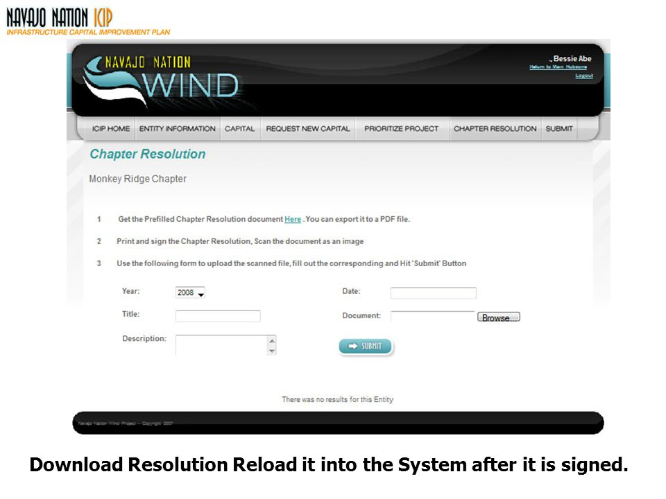 Download Resolution Reload it into the System after it is signed.